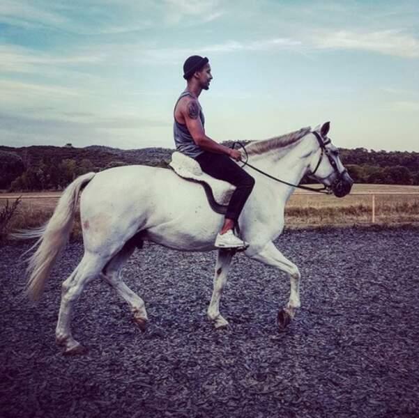 Waly Dia se découvrait une passion pour l'équitation.