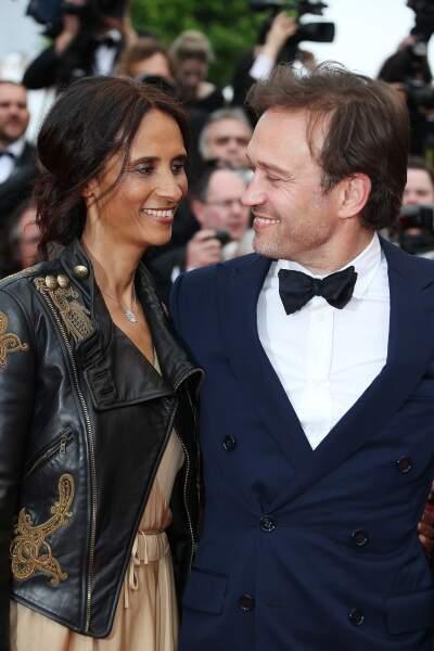Vincent Perrez et  Karine, son épouse