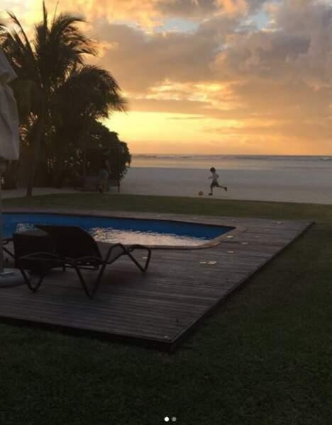 L'île Maurice, lieu choisi aussi par Nicolas Mahut et sa famille