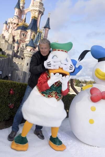 Le comédien Franck Dubosc et Donald