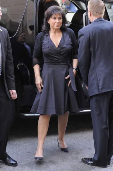 Un sans-faute pour cette robe portefeuille ! Ici, à New-York, en 2011.
