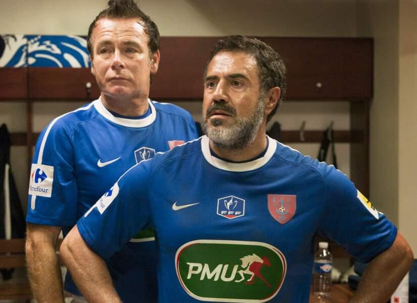 Franck Dubosc et José Garcia dans les vestiaires