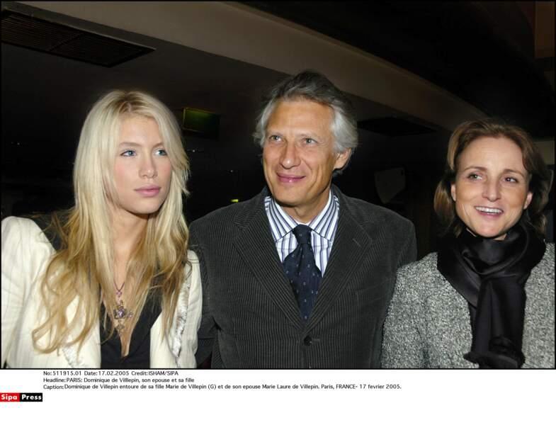 Marie de Villepin et ses parents (2007)