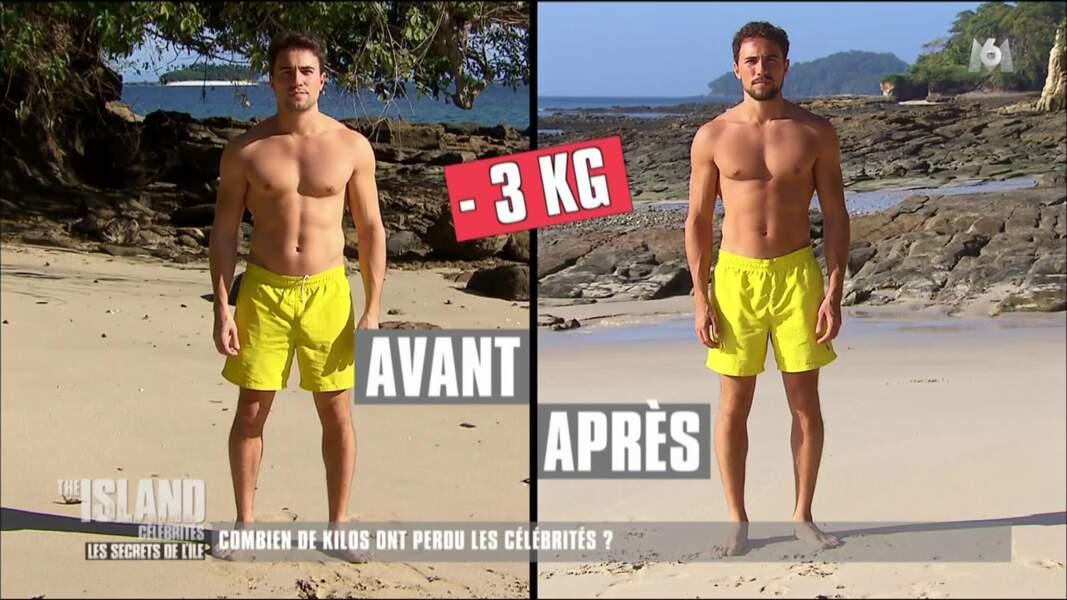 Même avec 3 kilos en moins, Olivier Dion reste très musclé…