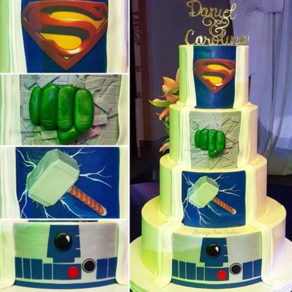 Si votre coeur balance ajoutez des super-héros à votre gâteau !