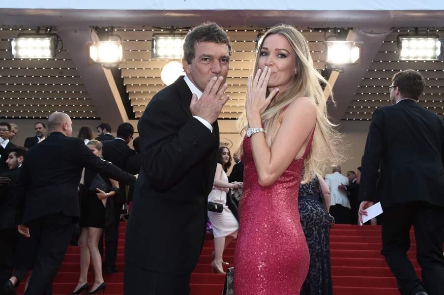 Antonio Banderas et Nicole Kempel complices sur les marches de Cannes !