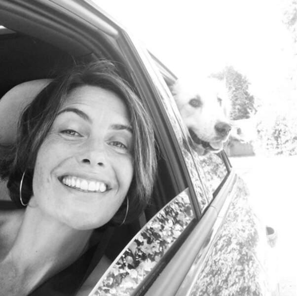 Alessandra Sublet était super contente d'aller chez le véto. Son chien aussi, bizarrement.