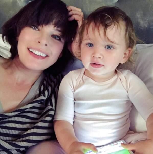 Tout aussi chou : Dashiel, 1 an et demi, fille de Milla Jovovich.