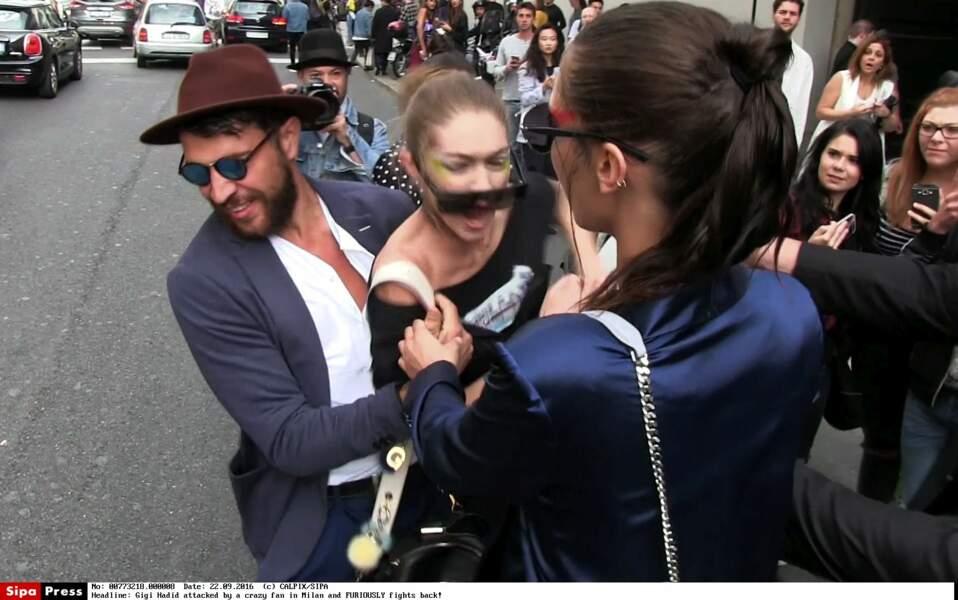 L'homme a attrapé Gigi Hadid…