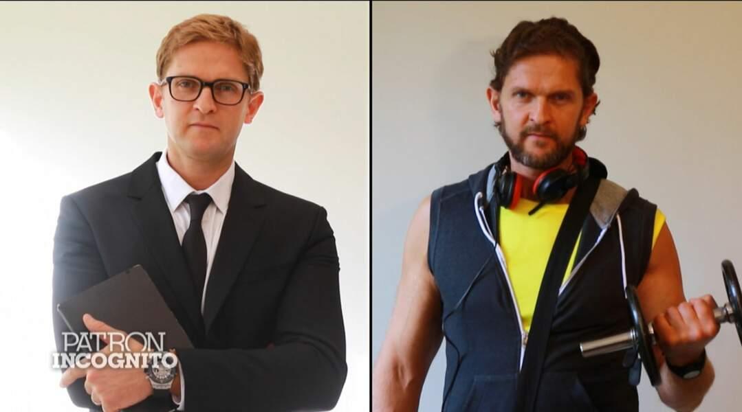 Philippe Herbette, président de la chaîne de clubs Moving, avant et après
