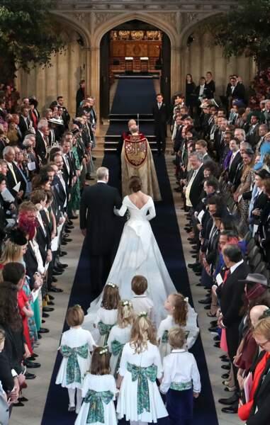 La princesse Eugenie au bras de son père