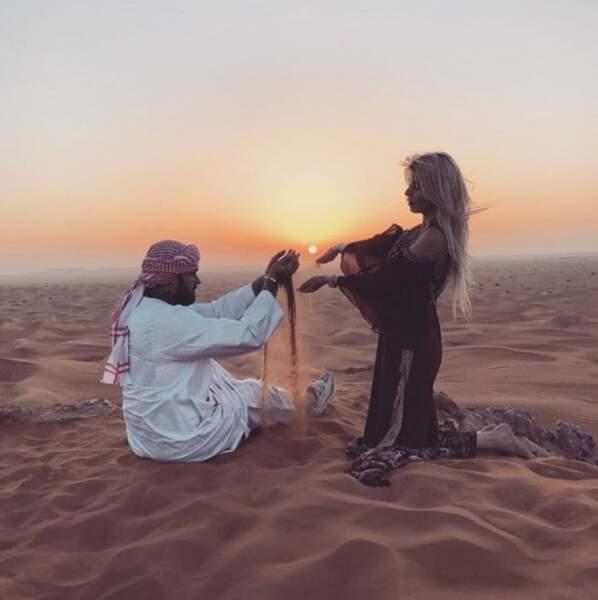 Thibault Garcia et Jessica Thivenin faisaient mumuse dans le désert de Dubai.