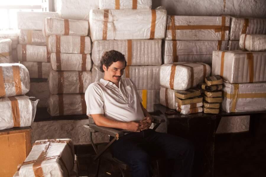 Pablo Escobar (Wagner Moura) bien entouré !