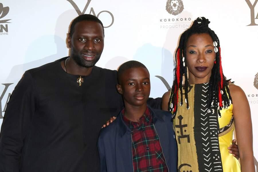 Omar Sy et ses camarades de jeu : Lionel Basse et Fatoumata Diawara