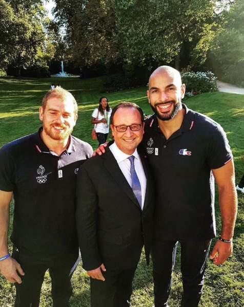 ... Ou que François Hollande posait avec certains athlètes...