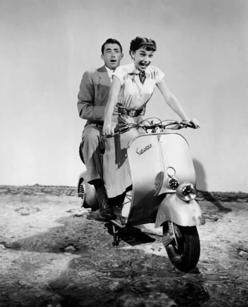 """Mais c'est l'année suivante qu'elle trouve le succès auprès de Gregory Peck dans """"Vacances romaines"""" (1953)"""