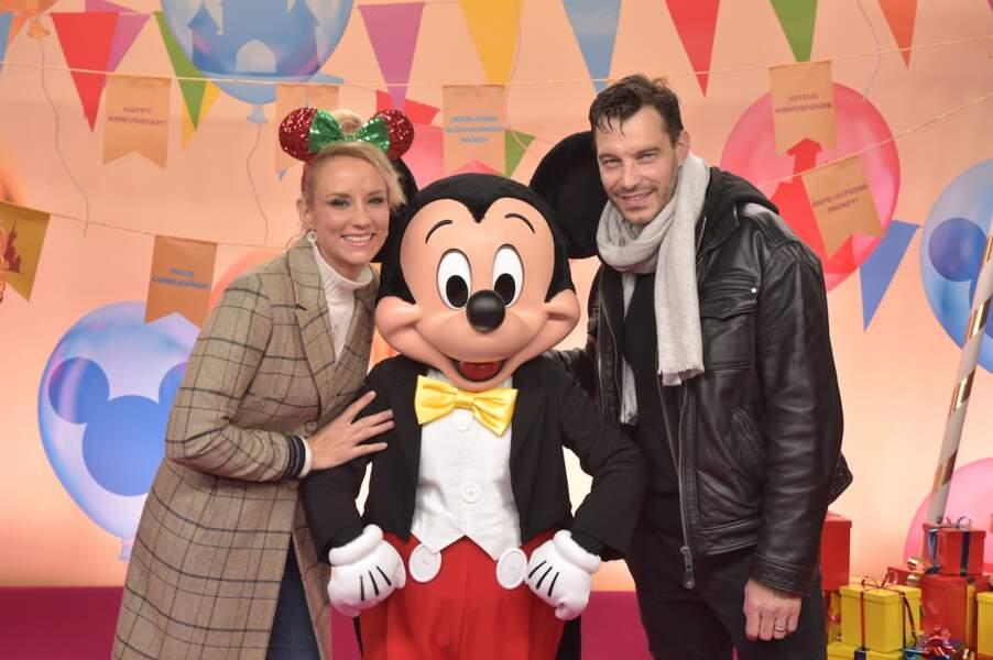 Mickey entouré d'Elodie Gossuin et son chéri Bertrand