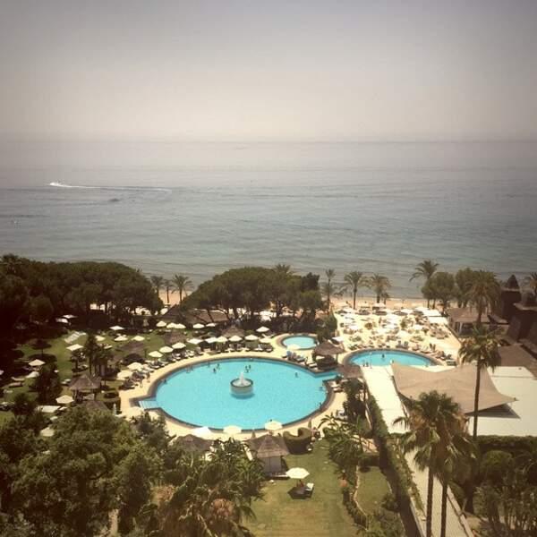 Ça va, Eva Longoria, on a compris que vous aviez une belle vue depuis votre hôtel #jalousie