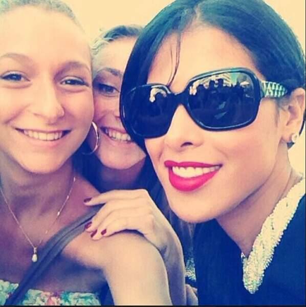 Ou selfies avec ses fans, elle était partout !