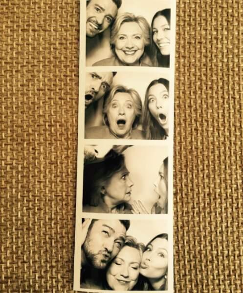 Le couple Jessica Biel - Justin Timberlake ont affiché leur soutien à Hillary Clinton.