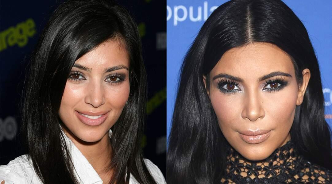 Mais on n'oublie surtout pas les Kardashian. Changement de visage pour Kim.