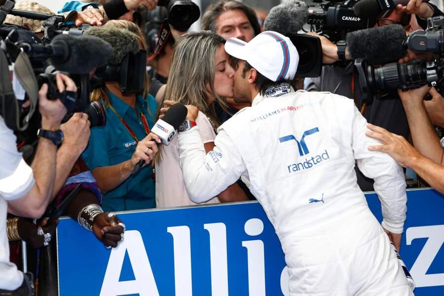 Pour Felipe Massa et Rafaela Bassi, c'est l'amour comme au premier jour !