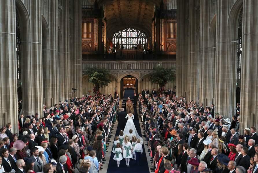 Les centaines d'invités ont pris place dans la Chapelle Saint-George