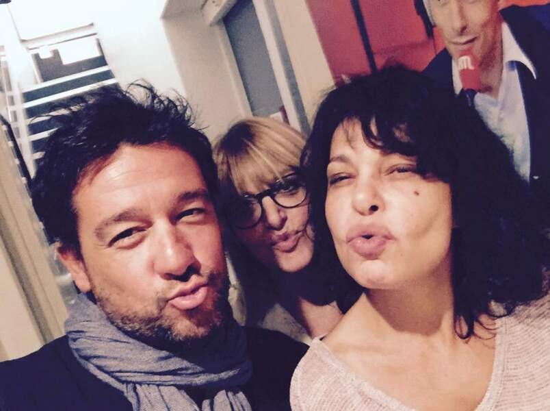 Titoff, Caroline Diament, Isabelle Mergault... des duckfaces pour Les grosses têtes de RTL.