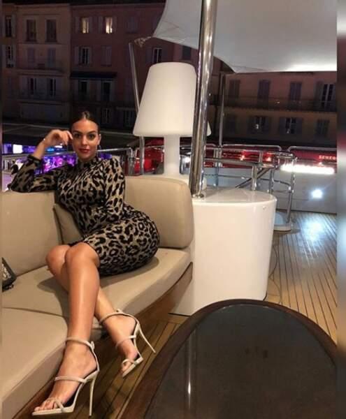 Georgina Rodriguez, femme fatale en tenue léopard