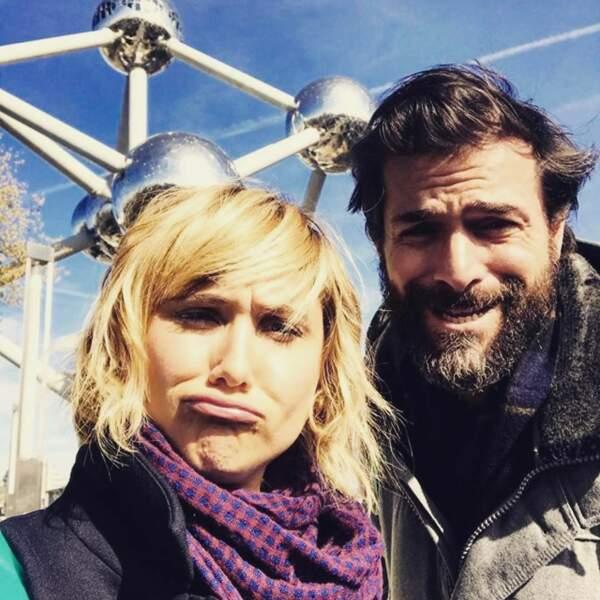 Pause selfie avec Bérengère Krief sur le tournage du film L'école est finie