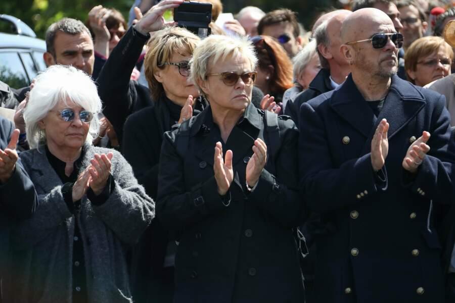 Catherine Lara, Muriel Robin et Pascal Obispo ont applaudi une dernière fois Maurane