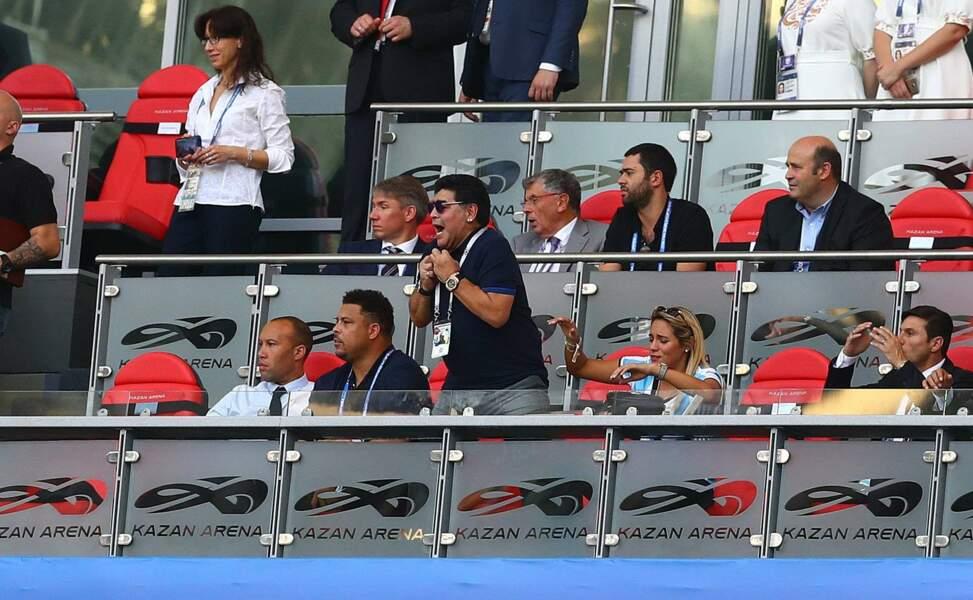 Diego Maradona semble toujours aussi sanguin...