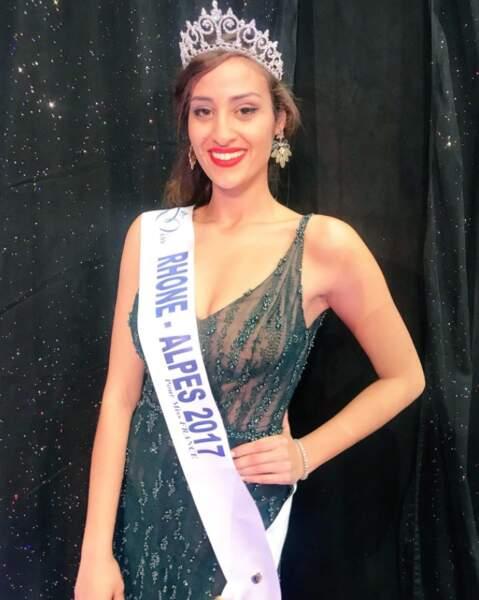 Dalida Benaoudia (24 ans) élue Miss Rhone-Alpes