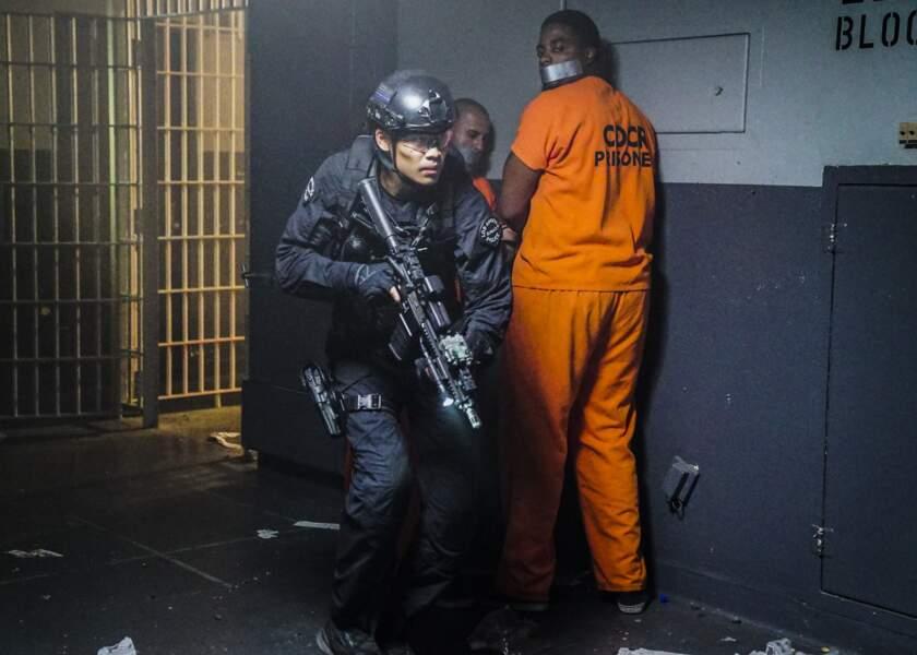 Intervention dans une prison contre une mutinerie