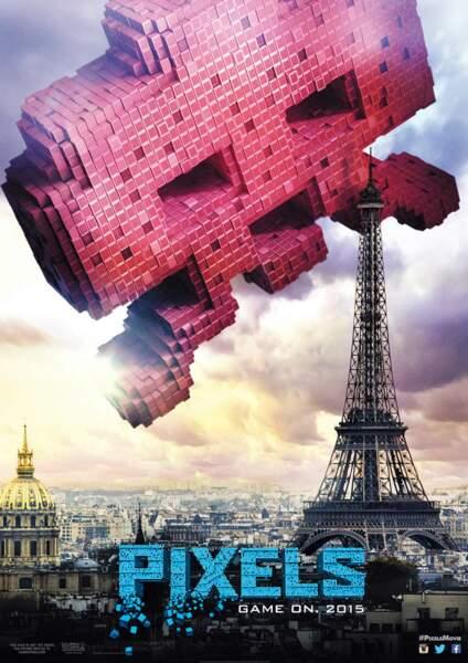 Et si Paris était attaquée par un Space Invader géant ?
