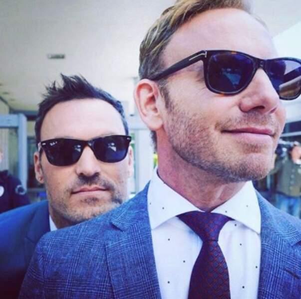 On vous laisse avec ce selfie de Ian Ziering et Brian Austin Green façon Men in Black.