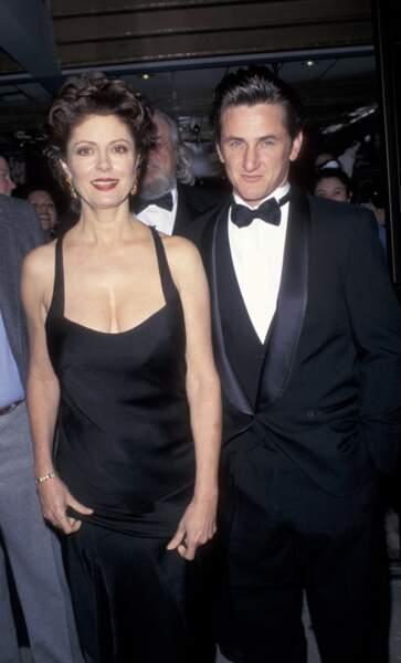Susan Sarandon (Thelma et Louise) et Sean Pean en 1996. La classe !