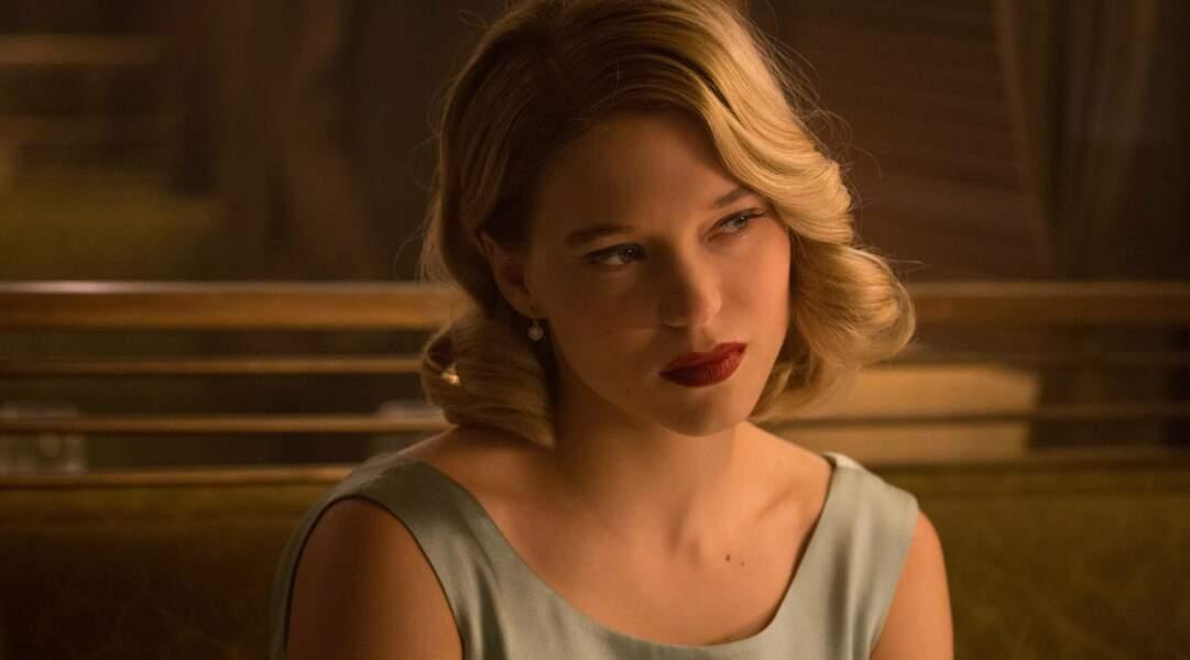 Léa Seydoux, très glamour, dans le dernier James Bond, Spectre, sorti en salles en novembre 2015.