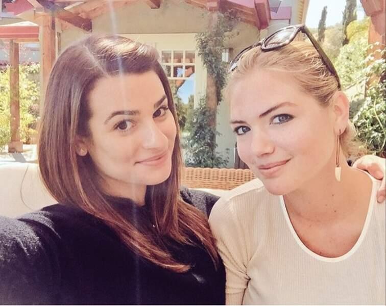 Lea Michele a rencontré Kate Upton avec qui elle va tourner son prochain film, The Layover