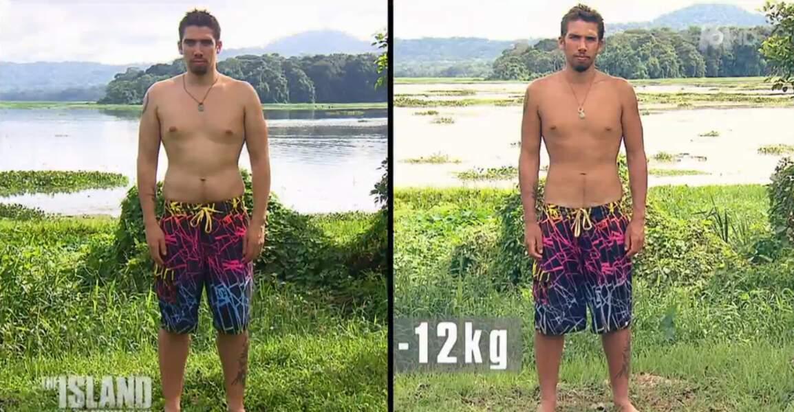 L'autre cadreur, Morgan, a perdu également 12 kilos