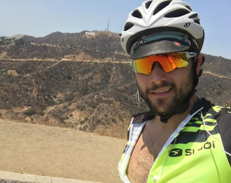 Pas de repos pour les braves ! Jack Falahee (How to make a murderer) s'est entraîné pour le triathlon à Hollywood.