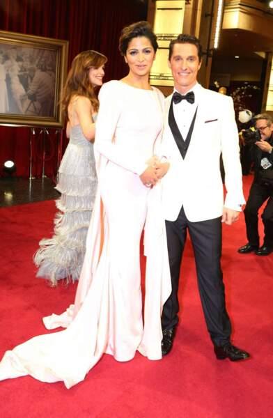 Matthew McConaughey, Oscar du meilleur acteur, et sa femme Camila Alves. LE couple star de cette cérémonie