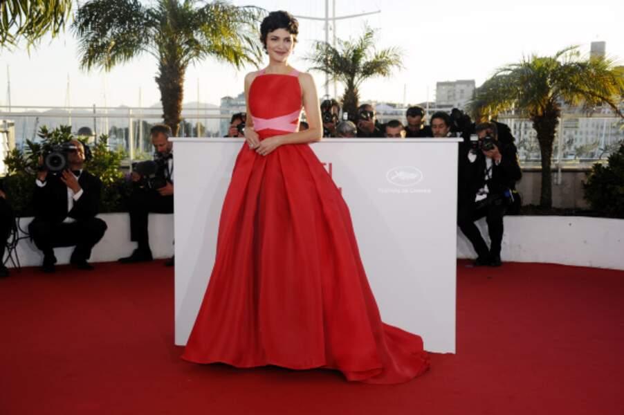 Très belle robe pour Audrey Tautou...