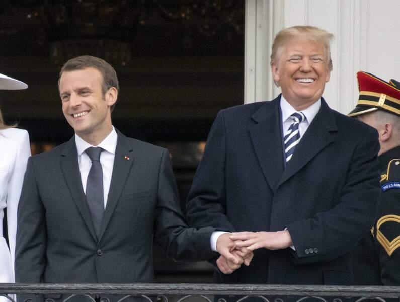 Les deux présidents n'ont pas caché leur amitié en se montrant très tactiles