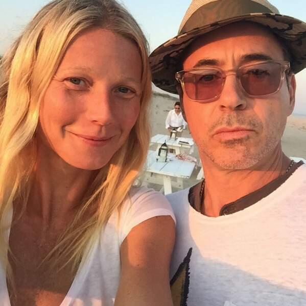 Gwyneth Paltrow était avec Robert Downey Jr #teamironman
