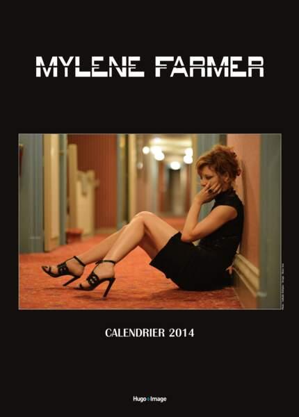 La couverture du calendrier 2014 de Mylène Farmer