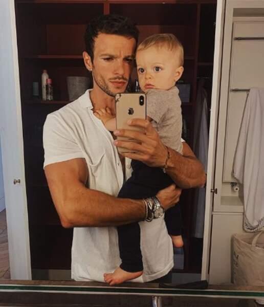 Tout aussi chou : Hugo Philip et son petit Marlon.