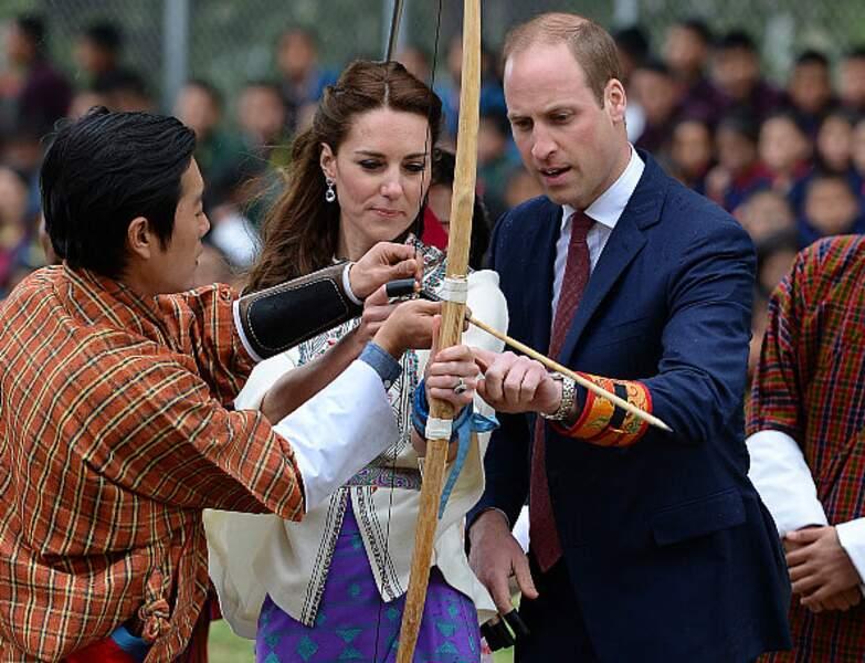 Kate et William s'initient au tir à l'arc