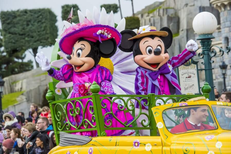 Minnie et Mickey annoncent l'arrivée du printemps à Disneyland Paris