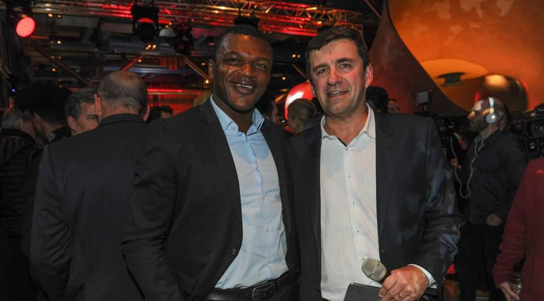 Marcel Desailly au côté du président de Coca-Cola France, François Gay-Bellile